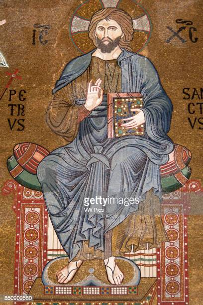 Jesus Christ mosaic Cappella Palatina Palazzo dei Normanni Palermo Sicily Italy