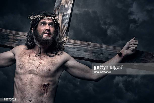 jesus christ on the cross - crucifix stock pictures, royalty-free photos & images