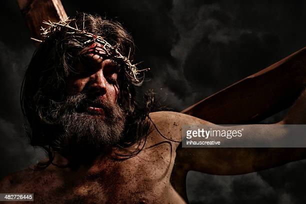 jesus christ pointing - jesus blood stock pictures, royalty-free photos & images