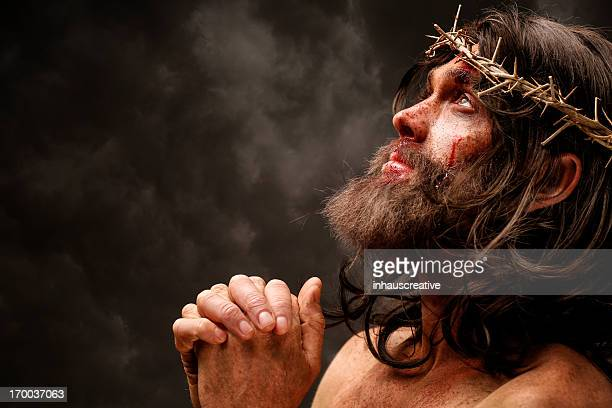 jesus christ praying - jesus christ stock pictures, royalty-free photos & images