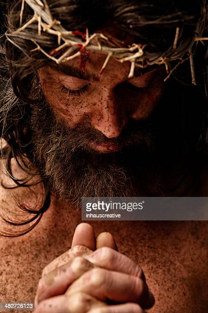 jesus christ praying - happy easter jesus stock pictures, royalty-free photos & images