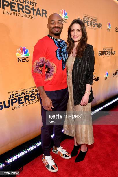 CONCERT Jesus Christ Superstar Live in Concert Press Junket Pictured Brandon Victor Dixon and Sara Bareilles in New York on Tuesday February 27 2018