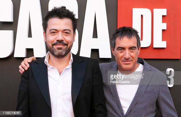 Jesus Colmenar and Alex Pina attend the red carpet of 'La Casa De Papel' 3rd Season by Netflix on July 11 2019 in Madrid Spain