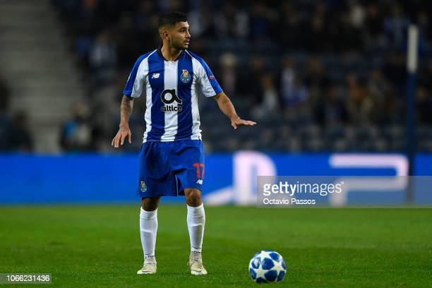 Jesus Corona of FC Porto in action during the Group D match of the UEFA Champions League between FC Porto and FC Schalke 04 at Estadio do Dragao on...