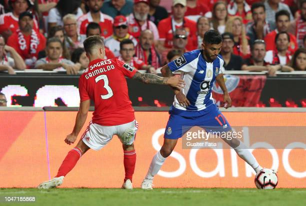Jesus Corona of FC Porto in action during the Liga NOS match between SL Benfica and FC Porto at Estadio da Luz on October 7 2018 in Lisbon Portugal