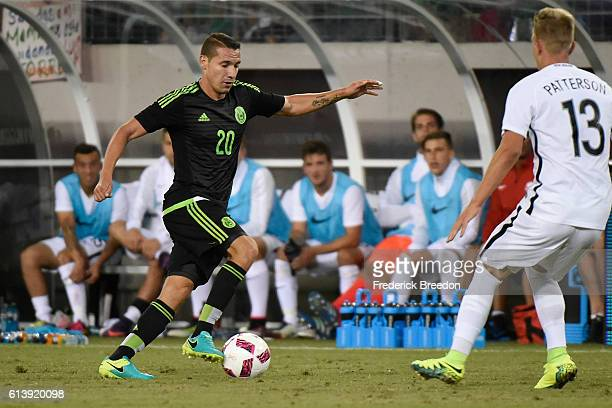 Jesus Duenas of Mexico plays against New Zealand at Nissan Stadium on October 8 2016 in Nashville Tennessee