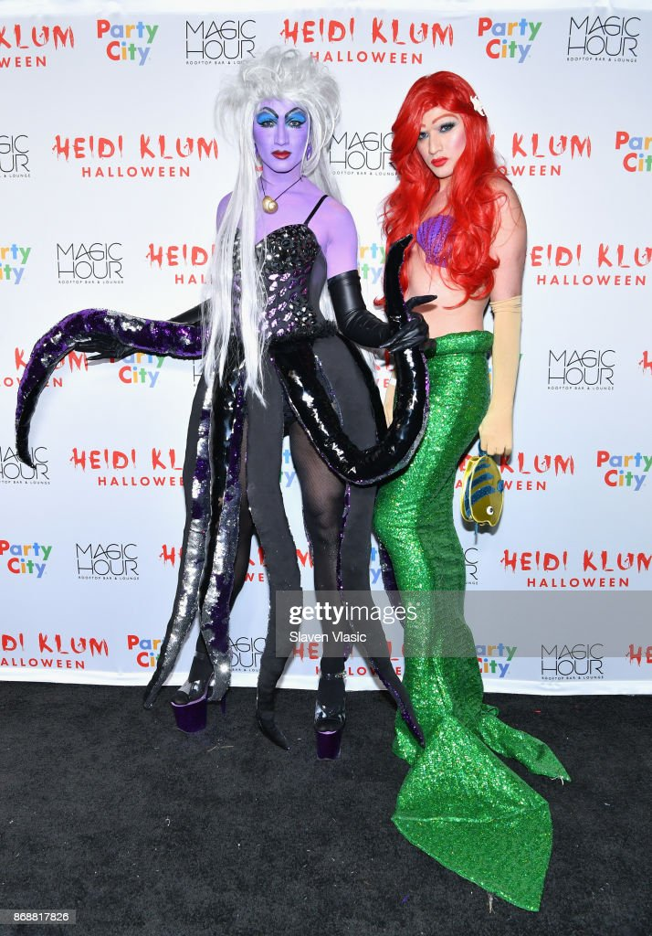 Jesus Estrada (L) and Antonio Estrada attend Heidi Klum's 18th annual Halloween Party presented by Party City at the Magic Hour Rooftop Bar & Lounge on October 31, 2017 in New York City.
