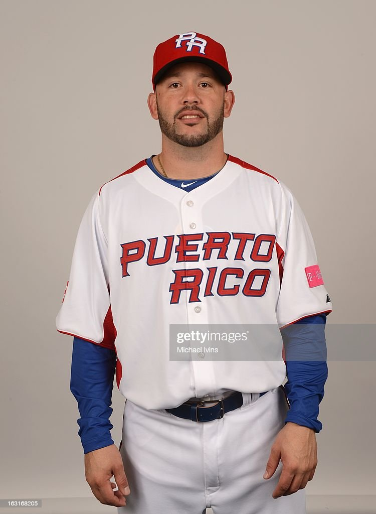 Jesus Feliciano #13 of Team Puerto Rico poses for a headshot for the 2013 World Baseball Classic at the City of Palms Baseball Complex on Monday, March 4, 2013 in Fort Myers, Florida.