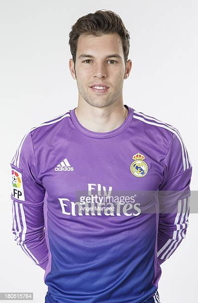Jesus Fernandez of Real Madrid poses during the official team photo session at Valdebebas training ground on September 13 2013 in Madrid Spain