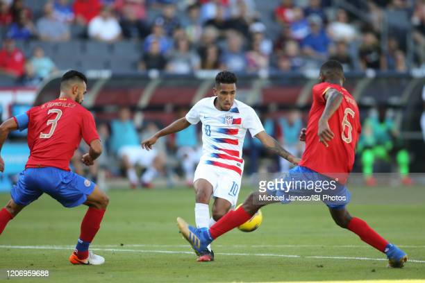 Jesus Ferreira of the United States during a game between Costa Rica and USMNT at Dignity Health Sports Park on February 1 2020 in Carson California