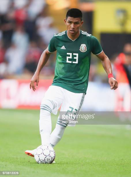 Jesus Gallardo of Mexico controls the ball during the international friendly match between Denmark and Mexico ahead of the FIFA World Cup Russia 2018...