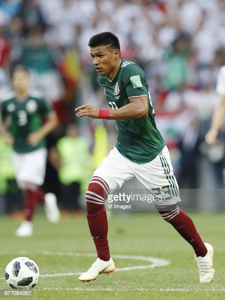 Jesus Gallardo of Mexico during the 2018 FIFA World Cup Russia group F match between Germany and Mexico at the Luzhniki Stadium on June 17 2018 in...