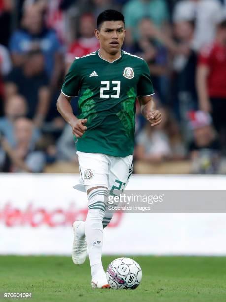 Jesus Gallardo of Mexico during the International Friendly match between Denmark v Mexico at the Brondby Stadium on June 9 2018 in Copenhagen Denmark