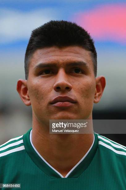 Jesus Gallardo of Mexico looks on during the International Friendly match between Mexico and Scotland at Estadio Azteca on June 2 2018 in Mexico City...
