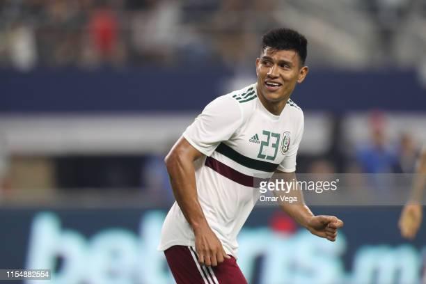 Jesus Gallardo of Mexico looks on during the match between Ecuador and Mexico at ATT Stadium on June 9 2019 in Arlington Texas
