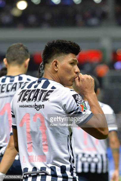Jesus Gallardo of Monterrey crosses himself while getting into the field prior the 13th round match between Monterrey and Toluca as part of the...