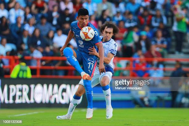 Jesus Gallardo of Monterrey controls the ball during the 1st round match between Pachuca and Monterrey as part of the Torneo Apertura 2018 Liga MX at...