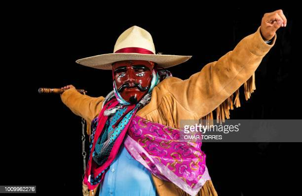 Jesus Guzman from Santiago Juxtlahuaca rehearses the Dance of the Blondes for the Guelaguetza traditional festival in Oaxaca Mexico on July 29 2018...