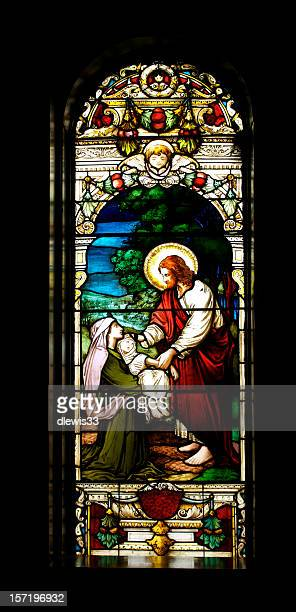 jesus healing a child - images of jesus healing stock pictures, royalty-free photos & images