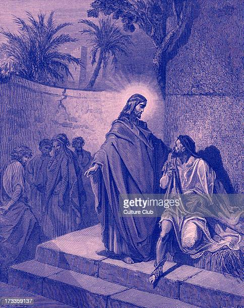 Jesus healing a man sick of the palsy 'He said to the paralytic 'Son be of good cheer your sins are forgiven you' ' Matthew IX 27