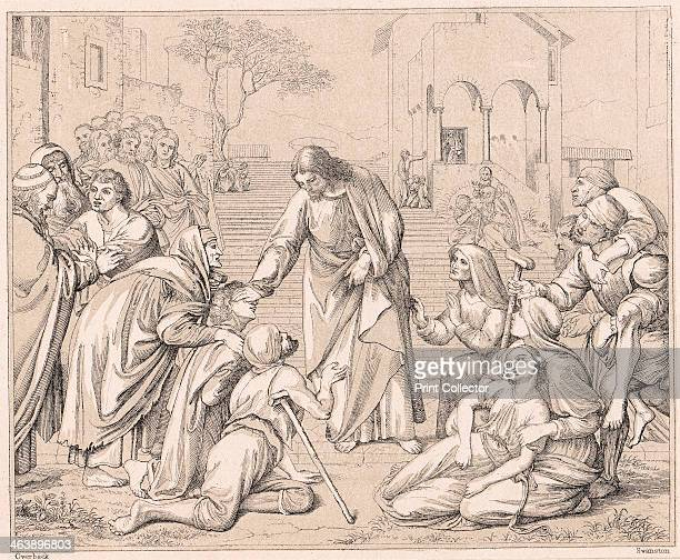 Jesus healing the multitudes c1880 From the Bible