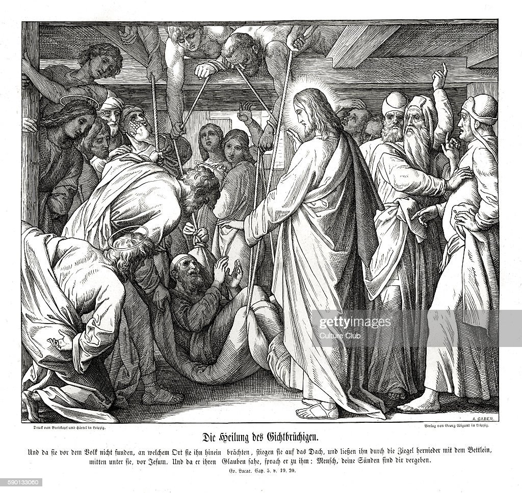 Jesus Heals The Paralyzed Man Gospel Of Luke Chapter V Verses 19