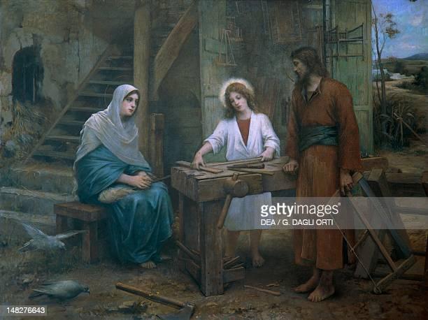 Jesus helping St Joseph in his workshop Church of St Joseph Nazareth Israel