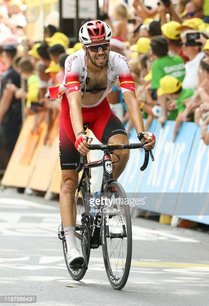 Jesus Herrada of Spain and Cofidis finishes 10th of stage 17 of the 106th Tour de France 2019, a stage from Pont du Gard to Gap on July 24, 2019 in...