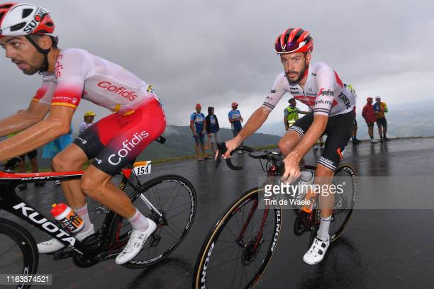 Jesus Herrada of Spain and Team Cofidis Solutions Credits / Julien Bernard of France and Team Trek-Segafredo / Rain / Fans / Public / during the...