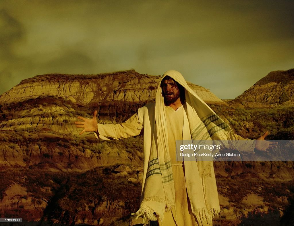 Jesus in the wilderness : Stock Photo