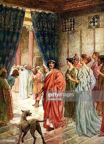 Jesus is sent to Herod 'And Herod with his men of war set him at nought and mocked him and arrayed him in a gorgeous robe and sent him again to...
