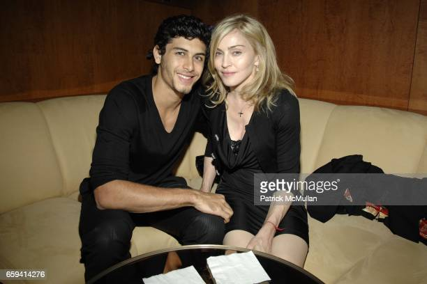 Jesus Luz and Madonna attend Andre Balazs's Preview of The Boom Boom Room at The Standard on September 12 2009 in New York City