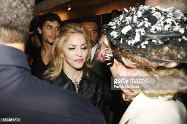 Jesus Luz Madonna and Lady Gaga attend MARC JACOBS Spring 2010 Collection at The NY State Armory on September 14 2009 in New York City