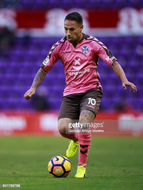 Jesus Manuel Santana alias Suso NT of Tenerife SAD controls the ball during the La Liga second league match between Real Valladolid CF and CD...