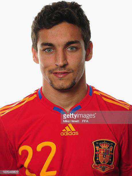 Jesus Navas of Spain poses during the official Fifa World Cup 2010 portrait session on June 13 2010 in Potchefstroom South Africa