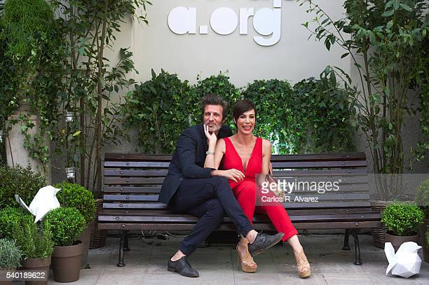 Jesus Olmedo and Nerea Garmendia attend 'Juegaterapia' party at the Santo Mauro Hotel on June 14 2016 in Madrid Spain