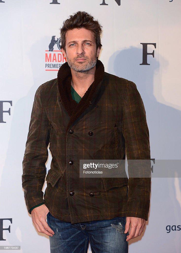 Jesus Olmedo attends the premiere of 'Fin' at Callao Cinema on November 20, 2012 in Madrid, Spain.