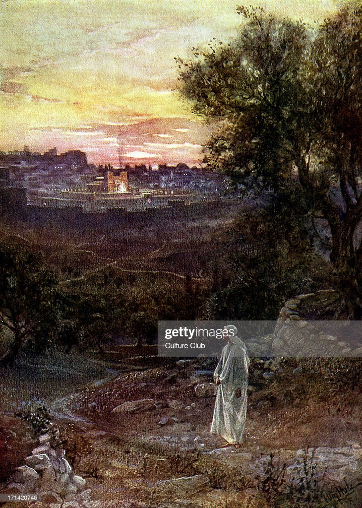 Jesus on the Mount of Olives : News Photo