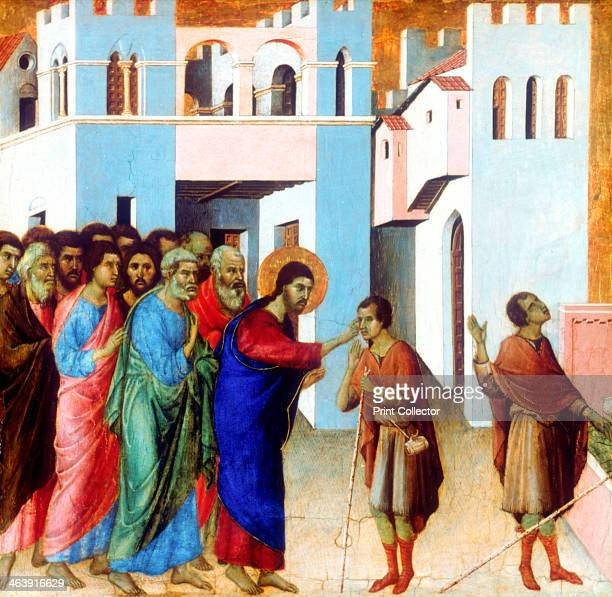 'Jesus Opens the Eyes of the Man born Blind' 1311 From the National Gallery London Artist Duccio di Buoninsegna
