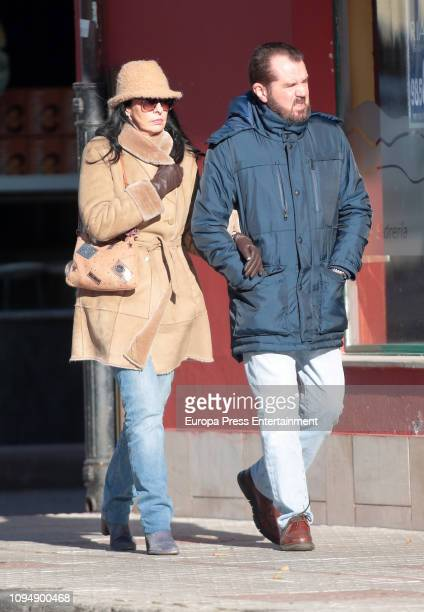 Jesus Ortiz and Ana Togores seen on December 31 2018 in Sardeu Spain