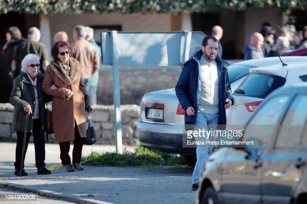 Jesus Ortiz and Menchu Alvarez are seen on December 31 2018 in Sardeu Spain