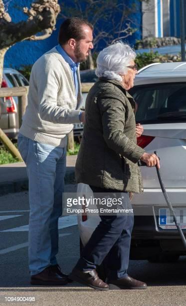 Jesus Ortiz and Menchu Alvarez del Valle are seen on December 31 2018 in Sardeu Spain