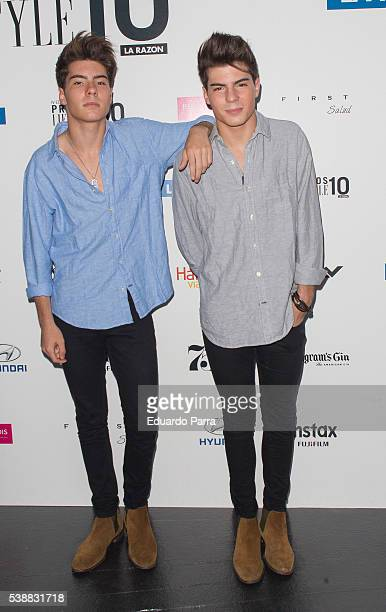 Jesus Oviedo and Daniel Oviedo from spanish band Gemeliers attends the 'Lifestyle awards' photocall at Barcelo theatre on June 8 2016 in Madrid Spain