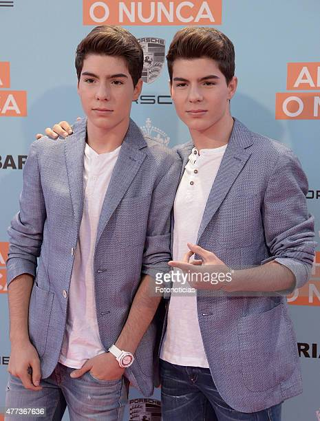 Jesus Oviedo and Daniel Oviedo Gemeliers attend the 'Ahora o Nunca' premiere at Capitol Cinema on June 16 2015 in Madrid Spain