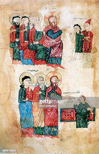 Jesus performing miracles 1394 Jesus curing the man possessed of a devil and raising Lazarus brother of Martha and Mary after four days After an...