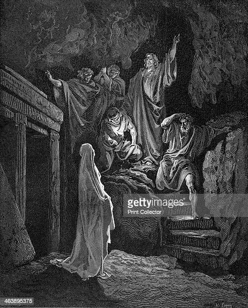 Jesus raising Lazarus from his tomb 18651866 From the Bible
