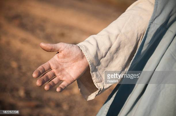 jesus reaching out - ceremonial robe stock pictures, royalty-free photos & images