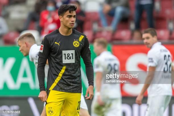 Jesus Reinier of Borussia Dortmund Looks on during the 1 Bundesliga match between FC Augsburg and Borussia Dortmund at WWK Arena on September 26 2020...