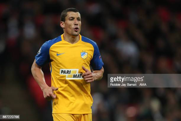 Jesus Rueda of Apoel during the UEFA Champions League group H match between Tottenham Hotspur and APOEL Nikosia at Wembley Stadium on December 6 2017...