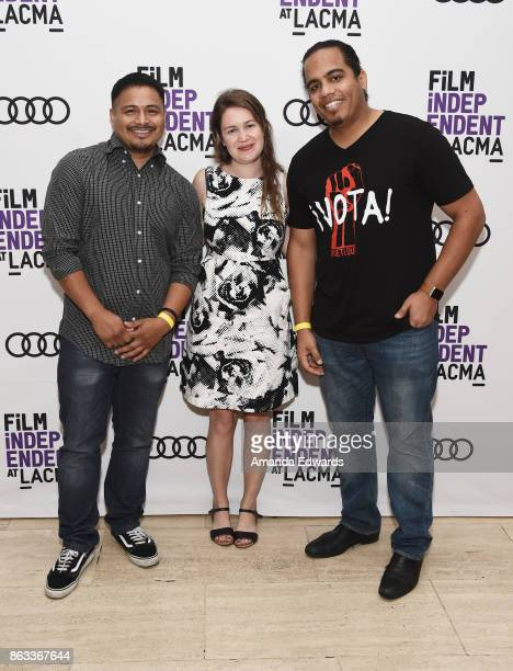 Jesus Ruiz director Martha Shane and guest attend the Film Independent at LACMA Special Screening of 11/8/16 at the Bing Theatre At LACMA on October...